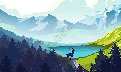 山间美景图片