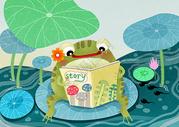 青蛙妈妈讲故事图片