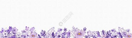 水彩手绘花卉背景图片