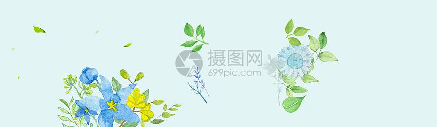 手绘水彩花卉海报图片