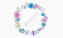 紫色花环图片