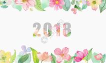 小清新背景花卉背景水彩花朵背景图片