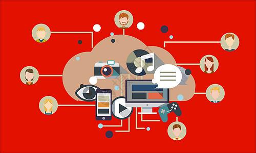 互联网科技矢量图片