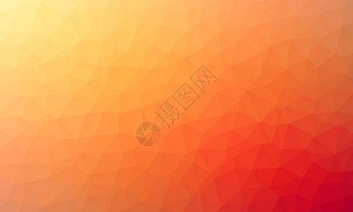 橙色多边形背景图片