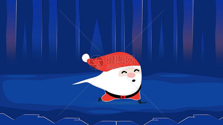 圣诞节背景插画图图片
