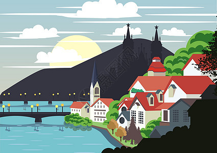 奥地利童话小镇图片