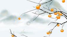 霜降节气中国风插画图片