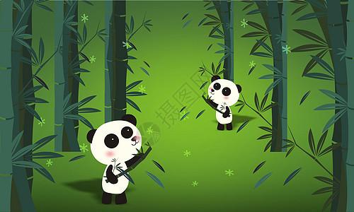 熊猫吃竹图图片