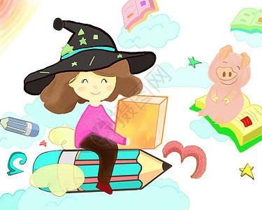 儿童教育插画图片