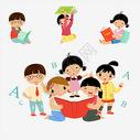 学习卡通儿童图片