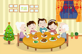 家庭聚餐图片