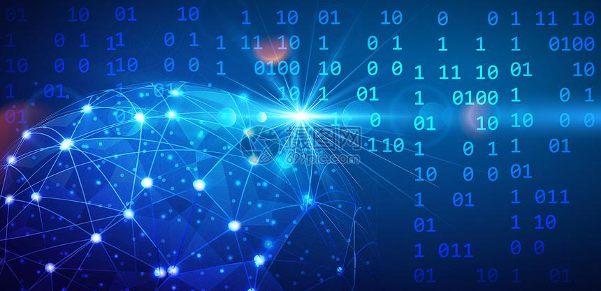 全球数字化信息科技背景图片