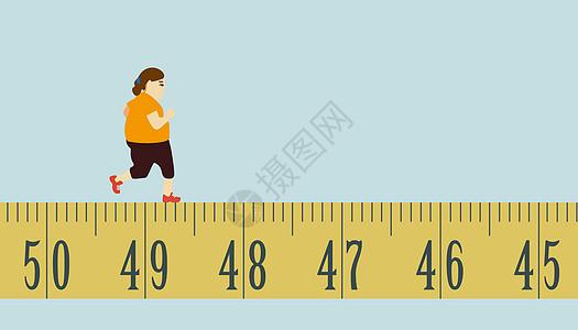 插画美容减肥锻炼图片
