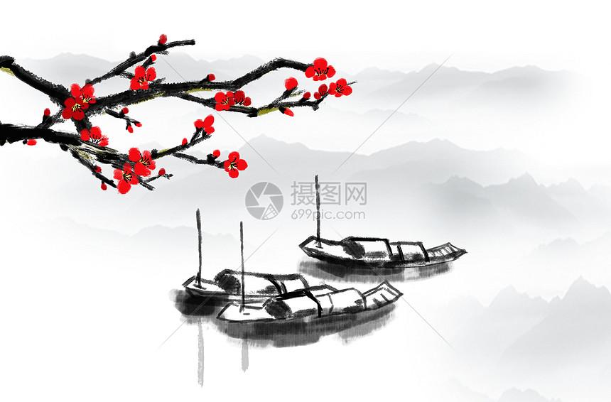水墨中国风水乡图片