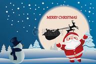 圣诞节矢量手绘图片