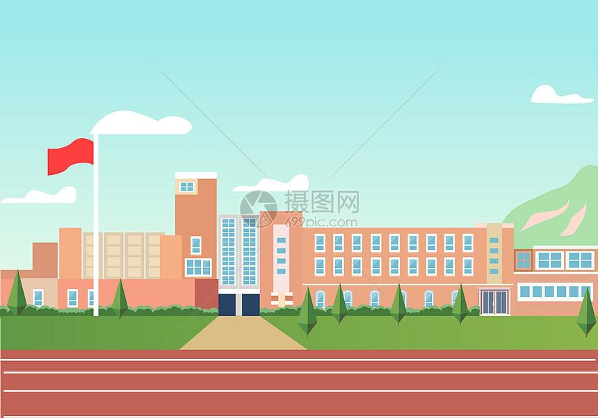 教学楼外的操场图片