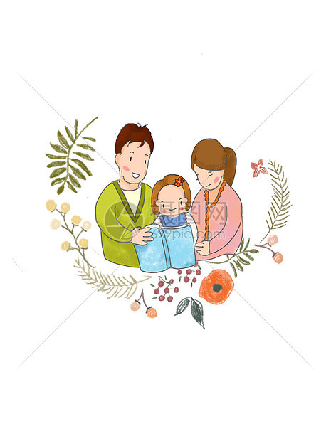 看书的父母和孩子图片素材_免费下载_psd图片格式_vrf