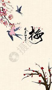 中国风梅花鸟图片