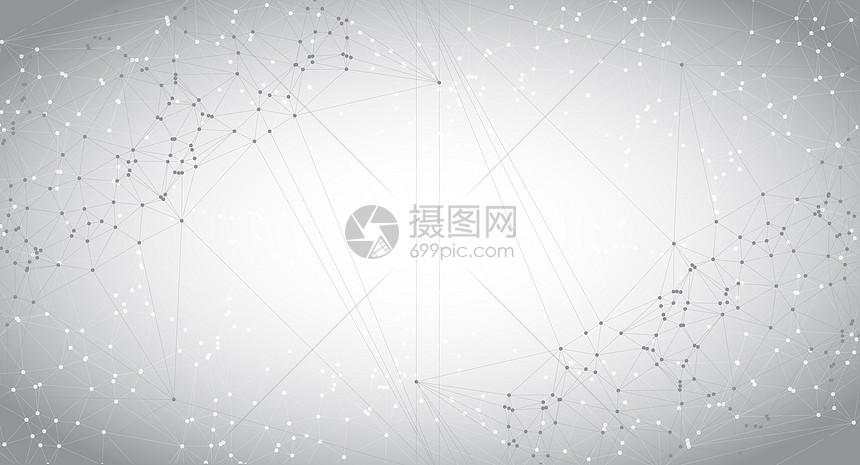 灰白色科技线条背景图片