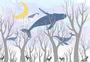 唯美天空鲸鱼插画图片