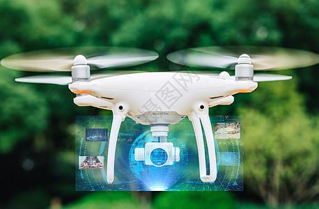 无人机科幻虚拟投影特效图图片