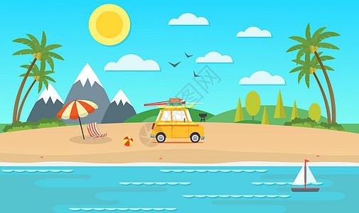 海滩风情图片