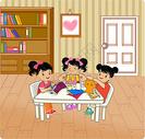 玩耍的卡通儿童图片