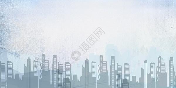 水彩城市背景图片