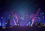 城市夜景背景插画图片