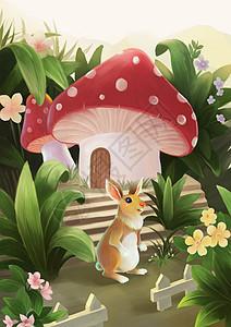 卡通兔子插画图片