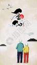 九九重阳节手绘插画图片