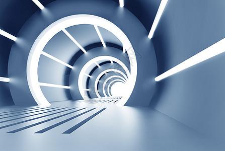 科技感光影隧道图片