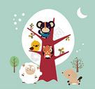 卡通动物形象图片