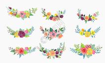 手绘水彩花卉装饰图片