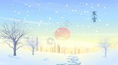 寒冬城市雪景图片