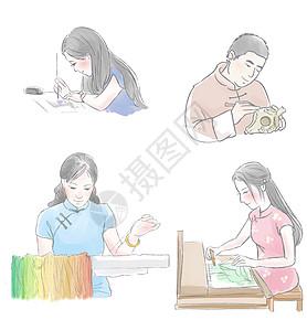 手工匠人人物画像图片