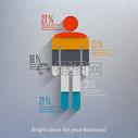 人体数据图表矢量图图片