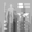 人体健康数据图表矢量图图片