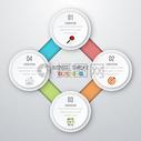 圆盘数据图表矢量图图片