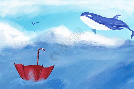 天空中的鲸鱼图片
