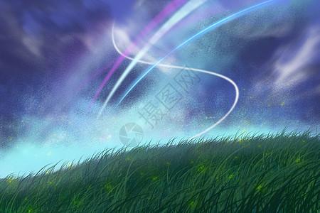 草地风光艺术背景图片