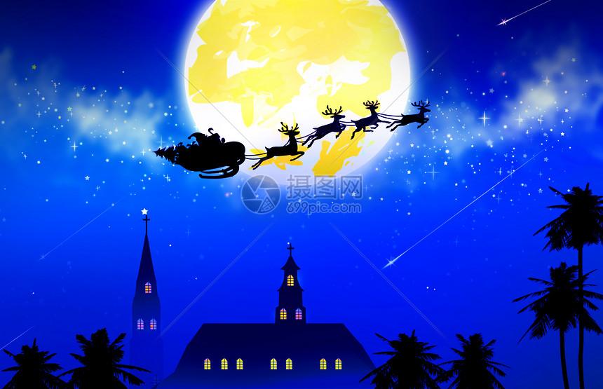圣诞老人 圣诞节手绘插画