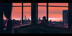 上海城市动漫插画图片
