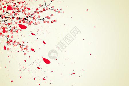 唯美花枝背景图片