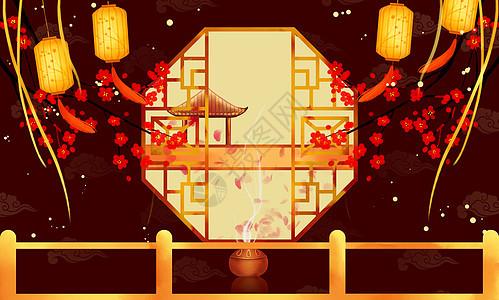 中国风节庆活动海报素材背景图片