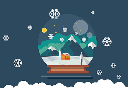 冬季梦幻水晶球图片