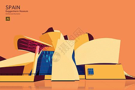 博物馆矢量建筑创意插画图片