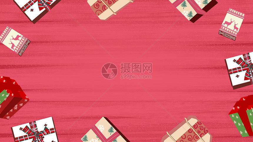 圣诞礼盒背景图片