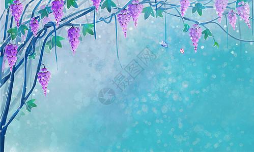 唯美古风树藤背景图片