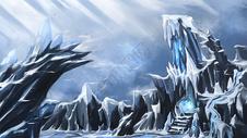 3D冰山唯美写实手绘插画图片